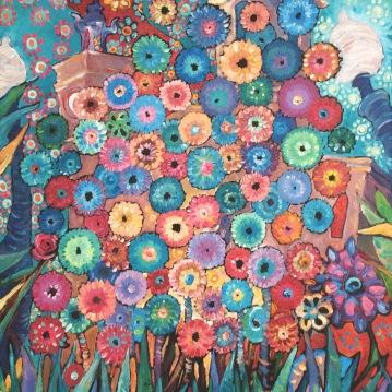 Flores en Sitges. Acrylique sur toile, 46 x 55 cm.